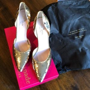 Kate Spade Gold Shoes size 9